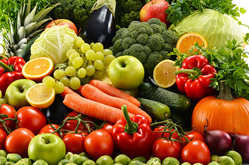 Consume a lot of organic vegetables and fruits
